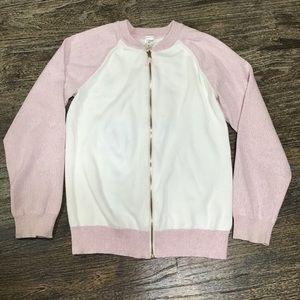 Oshkosh white and pink shimmering jacket